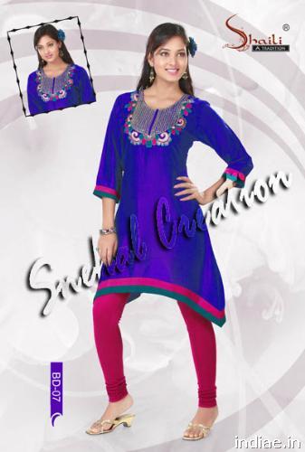 Photos Designer Ladies Kurtis Tunics Cotton Kurtas And